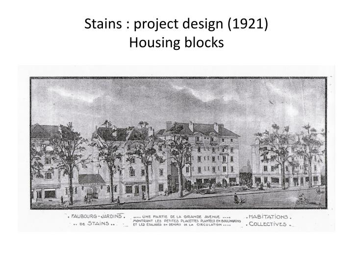 Stains : project design (1921)