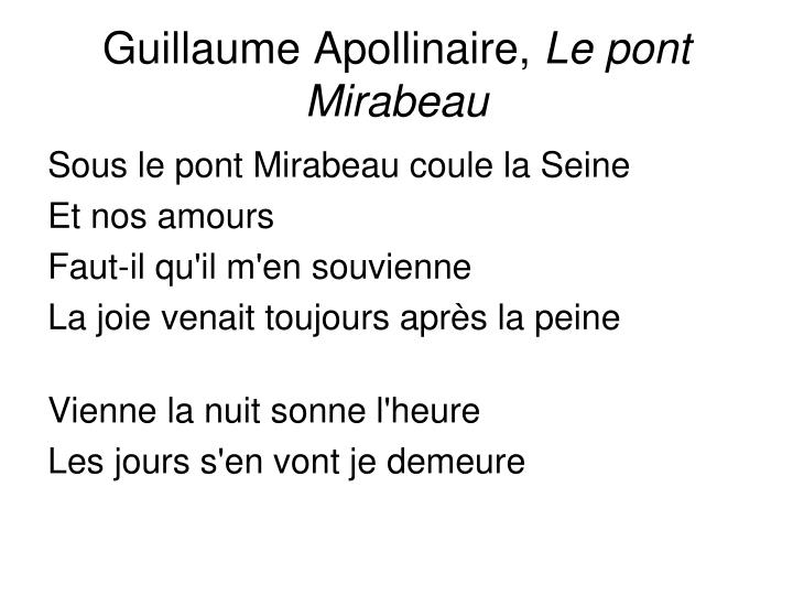 Guillaume Apollinaire,