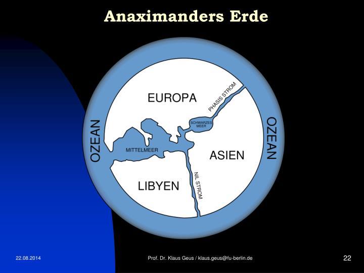 Anaximanders Erde
