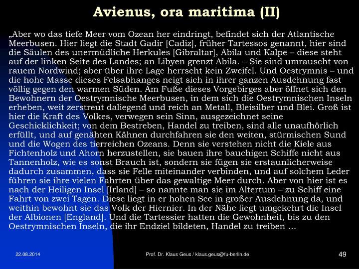 Avienus, ora maritima (II)
