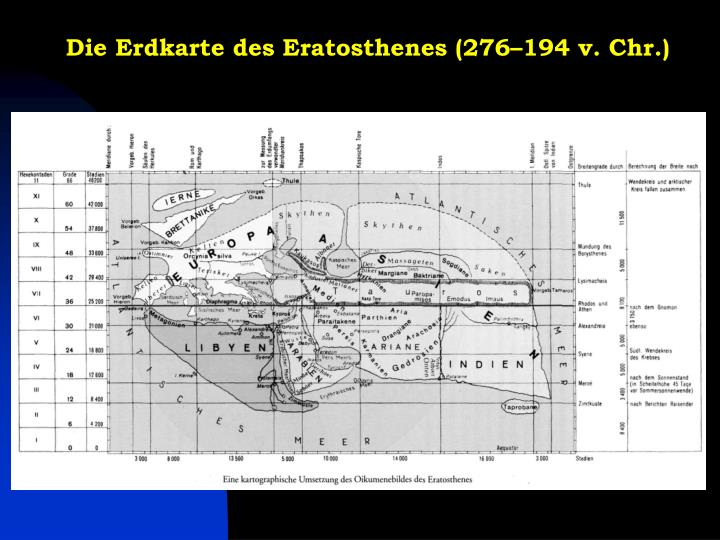 Die Erdkarte des Eratosthenes (276–194 v. Chr.)