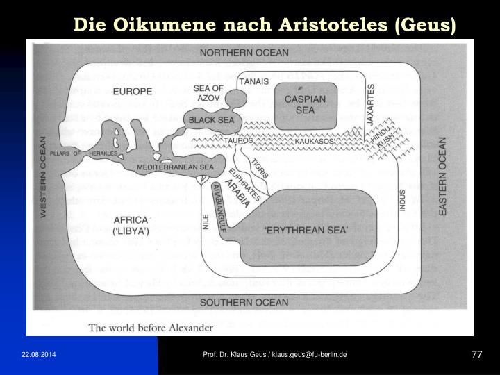 Die Oikumene nach Aristoteles (Geus)