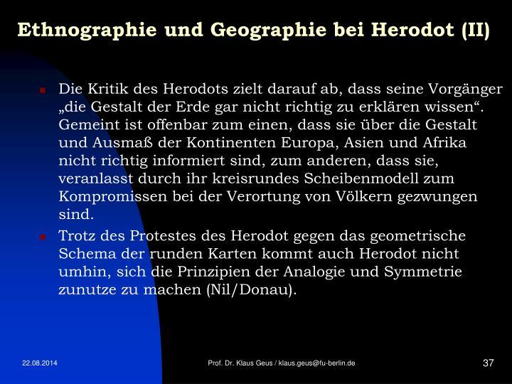 Ethnographie und Geographie