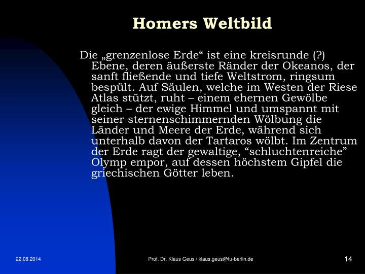 Homers Weltbild