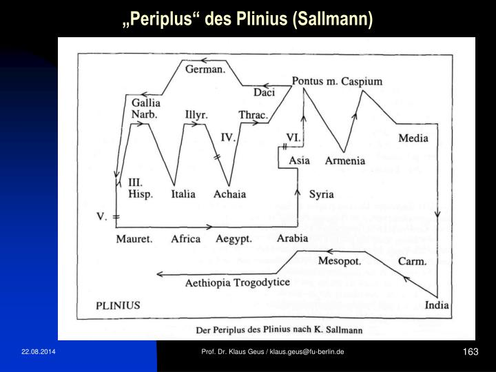 """Periplus"" des Plinius (Sallmann)"