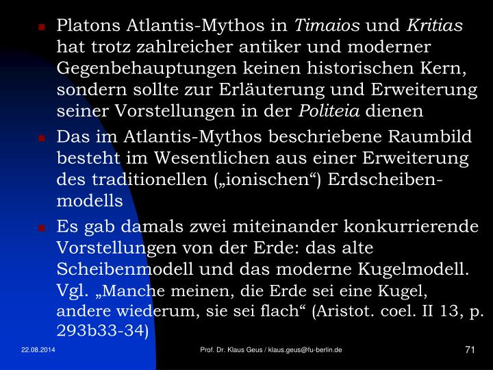 Platons Atlantis-Mythos in