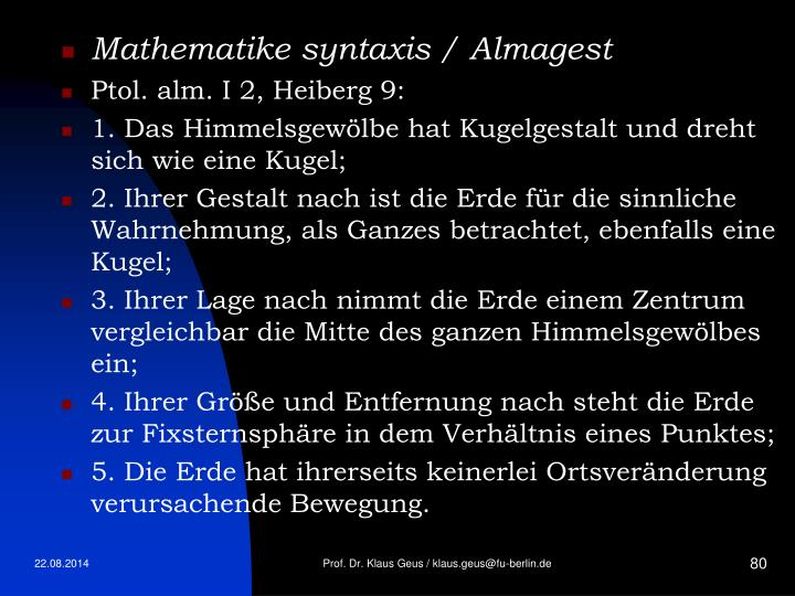 Mathematike syntaxis / Almagest
