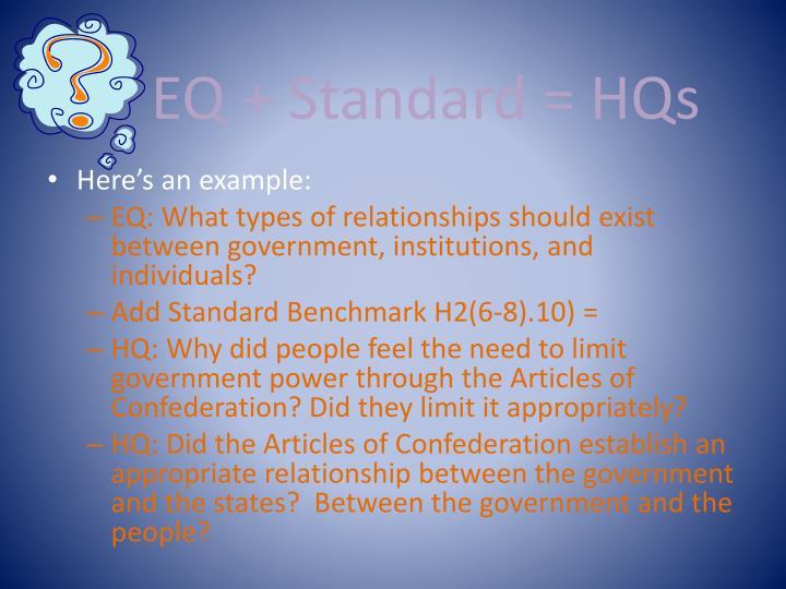 EQ + Standard = HQs
