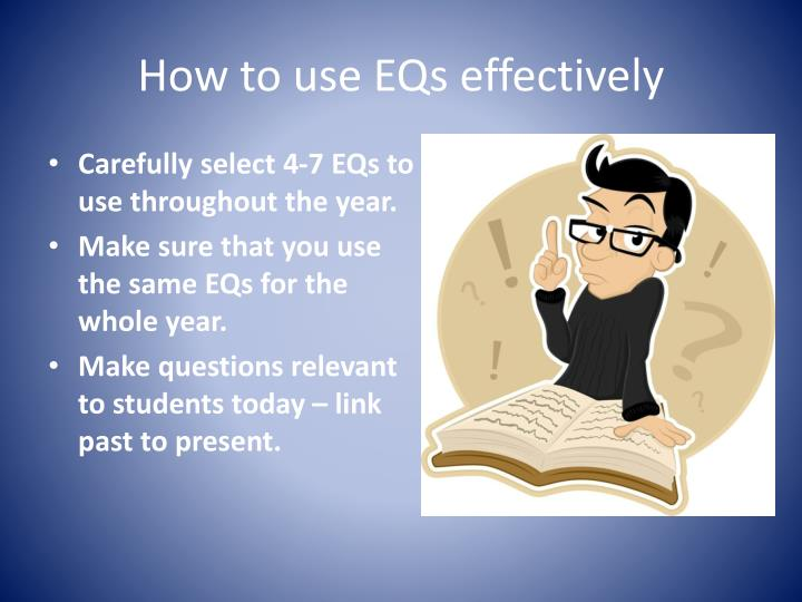 How to use EQs effectively