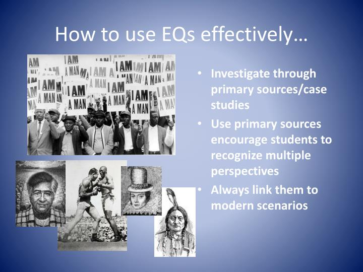 How to use EQs effectively…