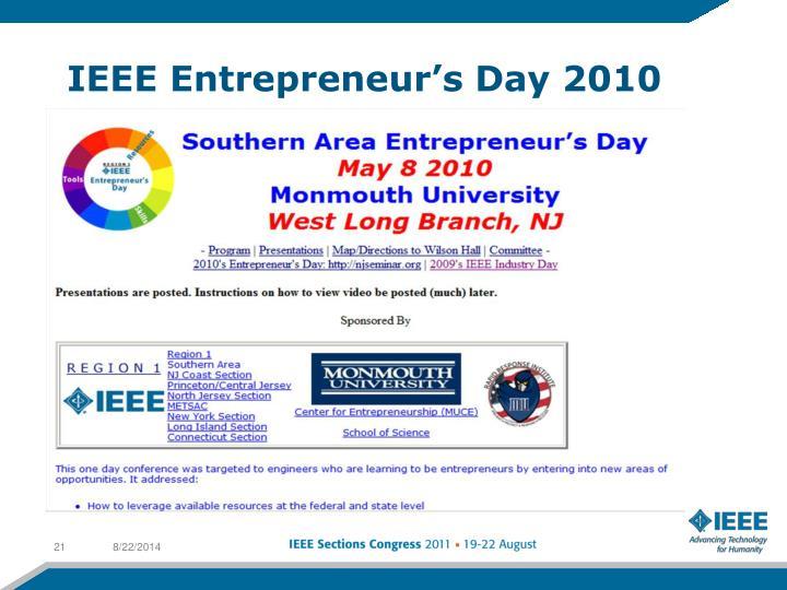 IEEE Entrepreneur's Day 2010