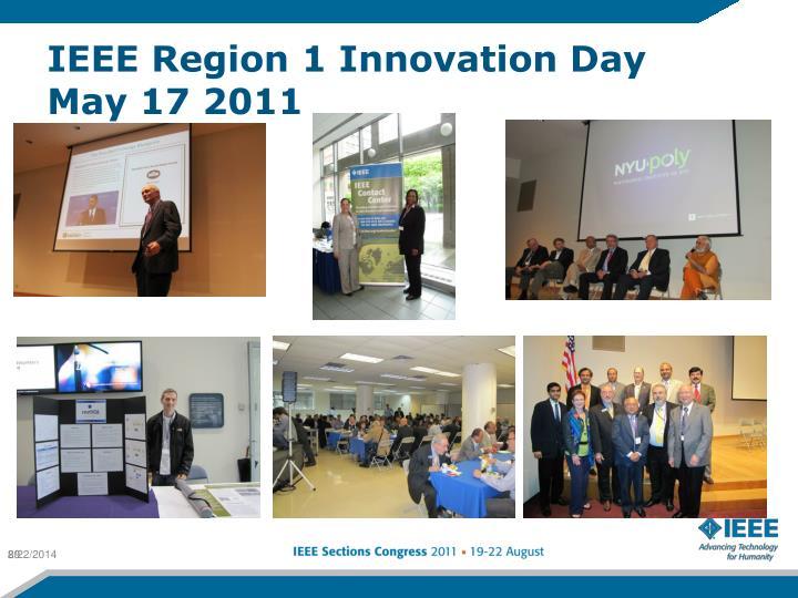 IEEE Region 1 Innovation Day May 17 2011