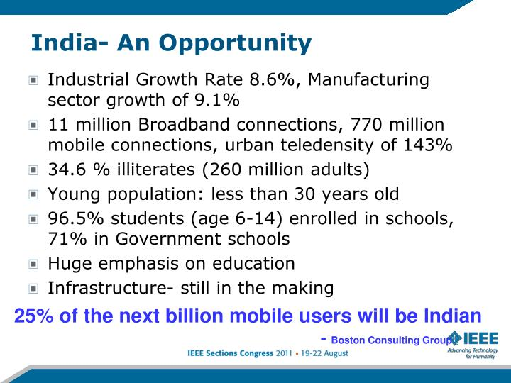 India- An Opportunity