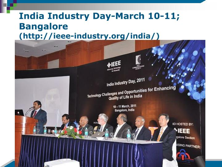 India Industry Day-March 10-11; Bangalore
