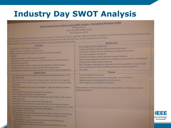 Industry Day SWOT Analysis