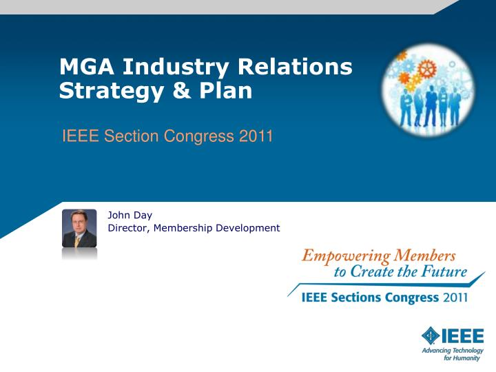 Mga industry relations strategy plan