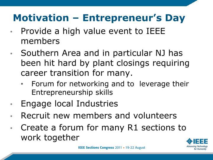 Motivation – Entrepreneur's Day
