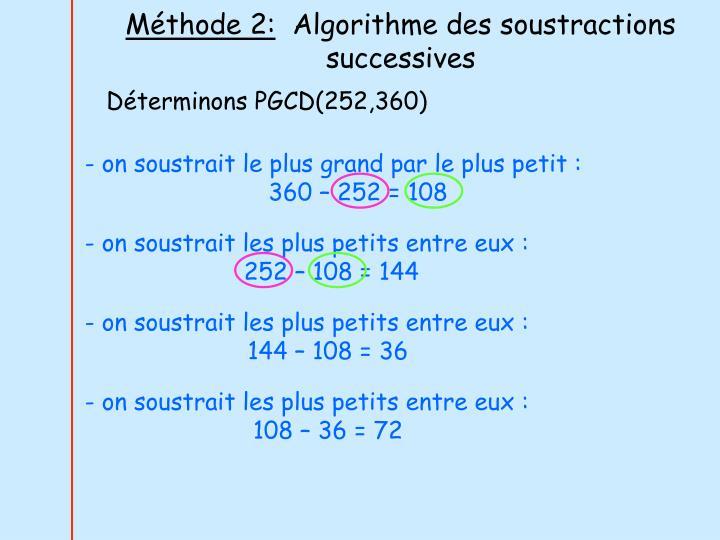 Méthode 2: