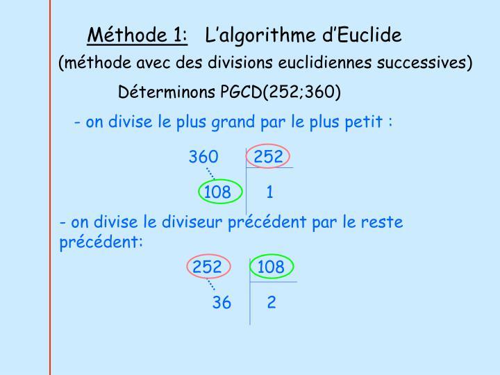 Méthode 1: