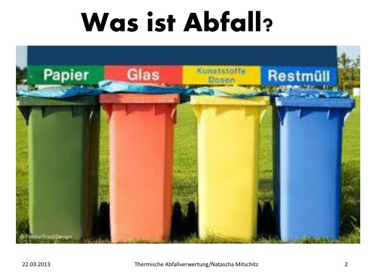 Was ist Abfall?