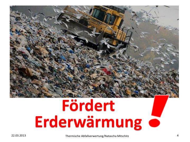 Fördert Erderwärmung
