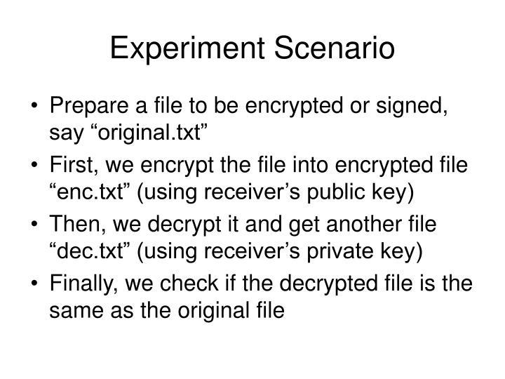 Experiment Scenario