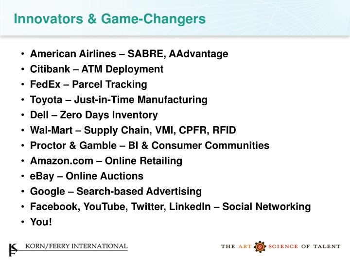 Innovators & Game-Changers
