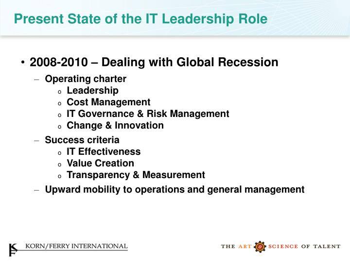 Present State of the IT Leadership Role