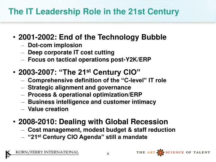 The IT Leadership Role in the 21st Century