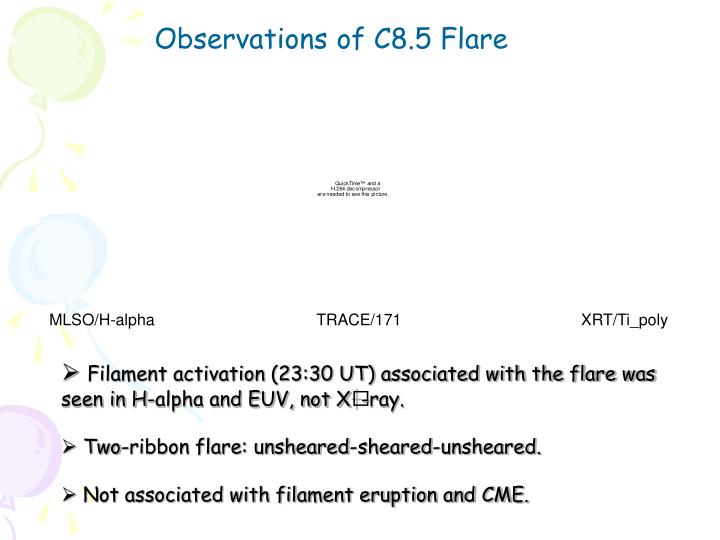 Observations of C8.5 Flare