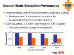 counter mode encryption performance