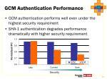 gcm authentication performance