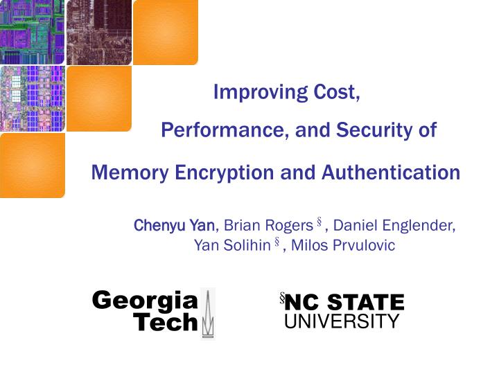 Performance, and Security of