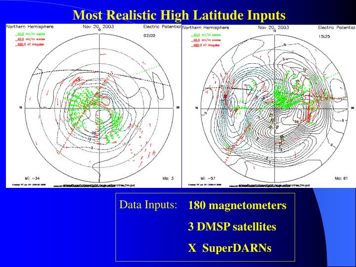 Most Realistic High Latitude Inputs
