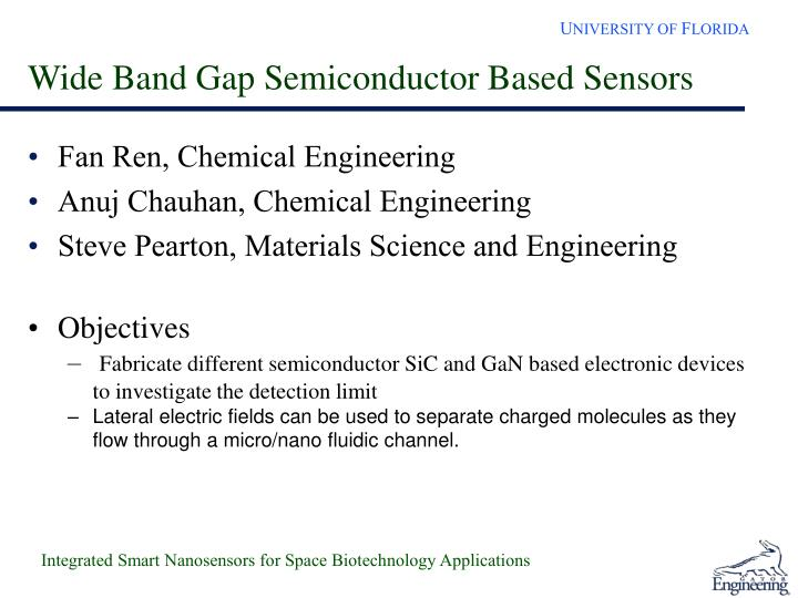 Wide Band Gap Semiconductor Based Sensors