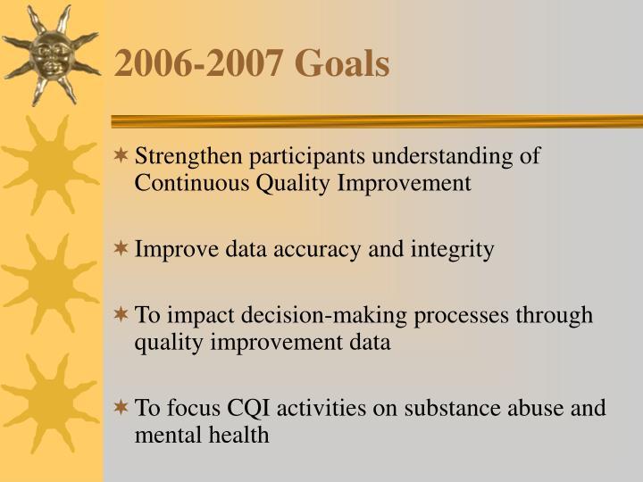 2006-2007 Goals