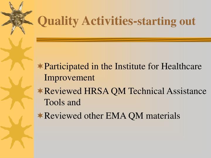 Quality Activities-