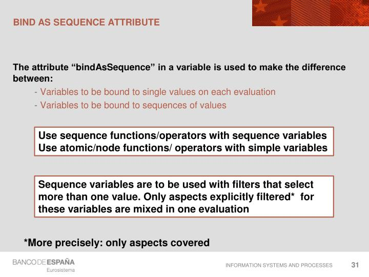 Bind as sequence attribute