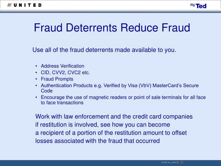 Fraud Deterrents Reduce Fraud