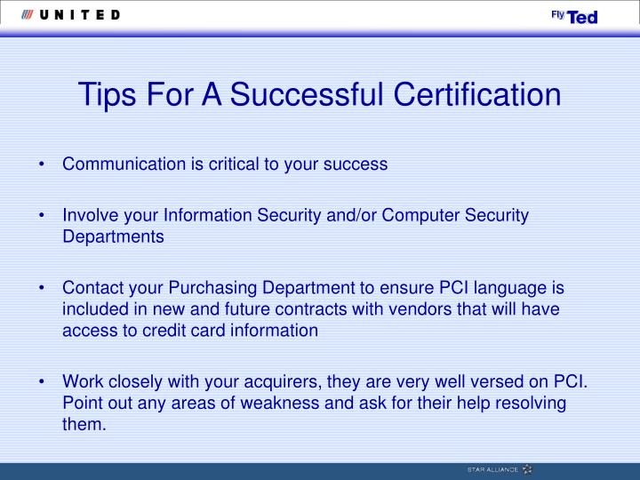 Tips For A Successful Certification