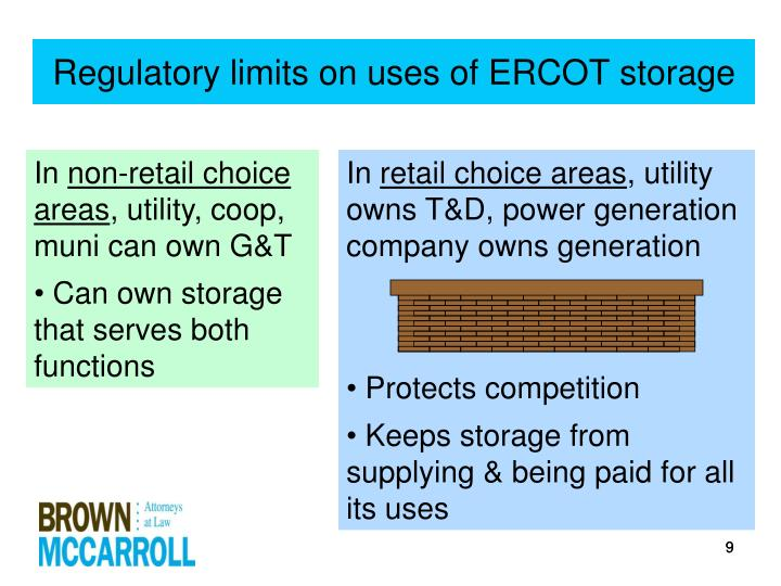 Regulatory limits on uses of ERCOT storage