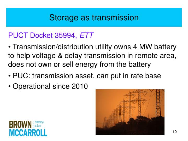 Storage as transmission