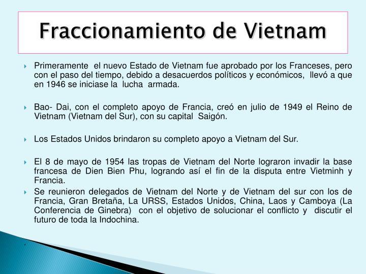 Fraccionamiento de Vietnam
