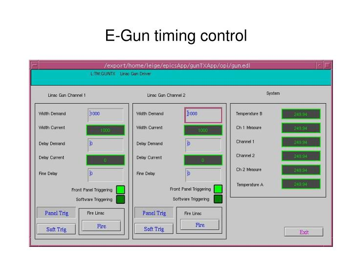 E-Gun timing control