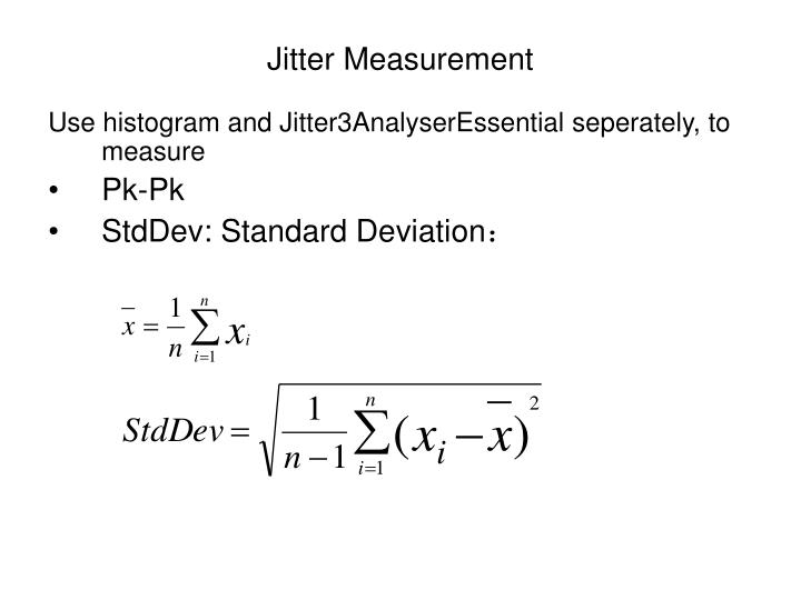Jitter Measurement