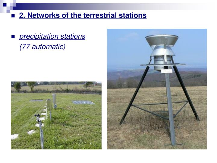 2. Networks of the terrestrial stations