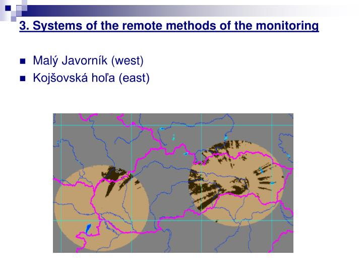 3. Systems of the remote methods of the monitoring
