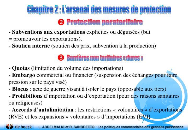 Chapitre2: L'arsenal des mesures de protection