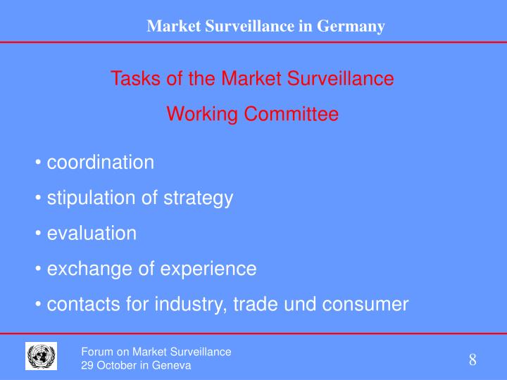 Tasks of the Market Surveillance