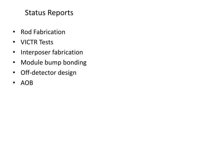 Status Reports